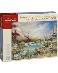 Puzzle Pomegranate de 1000 piese - Viata in San Francisco, Larry Wilson - 1t
