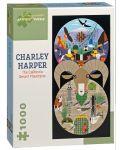 Puzzle Pomegranate de 1000 piese - Muntii desertului in California, Charley Harper - 1t