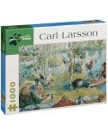 Puzzle Pomegranate de 1000 piese - La vanatoare de raci de rau, Carl Larsson - 1t