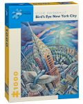 Puzzle Pomegranate de 1000 piese - New York prin ochii pasarilor, Sylvie Daigneault - 1t