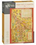 Puzzle Pomegranate de 500 piese - Harta Cambridge - 1t