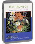 Puzzle Pomegranate de 100 piese - Margarete,crini de lemn si vicia, Tom Thomson - 1t