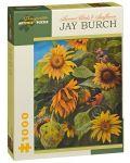Puzzle Pomegranate de 1000 piese - Pasarile verii si floarea soarelui, Jay Burch - 1t