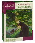 Puzzle Pomegranate de 500 piese -  Ursi negri, W. Herbert Dunton - 1t