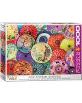 Puzzle Eurographics de 1000 piese - Umbrele asiatice  - 1t