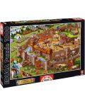 Puzzle Educa de 1000 piese - Asezare medievala - 1t