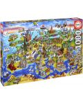 Puzzle Educa de 1000 piese - Lumea europeana - 1t