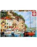Puzzle Educa de 2000 piese - Barca rosie in Calgata, Guido Borelli - 1t