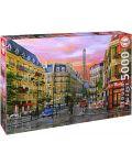 Puzzle Educa de 5000 piese - Strada in Paris, Dominic Davison - 1t
