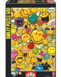 Puzzle Educa de 500 piese - Lumea zambetelor - 1t