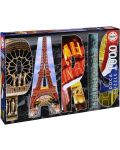 Puzzle Educa de 1000 piese - Colaj Paris - 1t