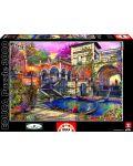 Puzzle Educa de 3000 piese - Romantica in Venetia, Dominic Davison - 1t