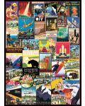 Puzzle Eurographics de 1000 piese – Reclame retro, calatorie in America - 2t