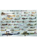 Puzzle Eurographics de 1000 piese –Avioane militare din Primul razboi mondial - 2t