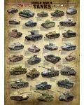 Puzzle Eurographics de 1000 piese – Tancuri din timpul celui de-al doilea razboi mondial  - 2t