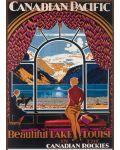 Puzzle Eurographics de 1000 piese –  Canadian Pacific, Frumosul lac Louis - 2t