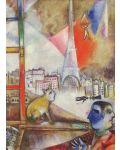 Puzzle Eurographics de 1000 piese – Paris de la fereastra, Mark Chagall - 2t