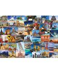 Puzzle Eurographics de 1000 piese – Colectia Globetrotter: lumea - 2t