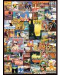 Puzzle Eurographics de 1000 piese – Reclame retro pentru calatorii in jurul lumii - 2t