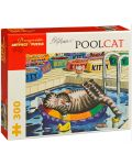 Puzzle Pomegranate de 300 piese - Pisica in piscina, B Kliban - 1t