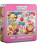 Puzzle Eurographics de 1000 piese - Cupcake Party Tin - 1t