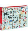 Puzzle Galison de 1000 piese -Hot Dogs A-Z - 1t