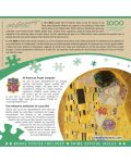 Puzzle Master Pieces de 1000 piese - The Kiss - 3t