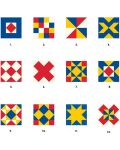 Puzzle-uri cubulete Pomegranate de 16 piese - Matrice colorate - 2t