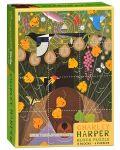 Puzzle-uri cubulete Pomegranate de 12 piese - Pasari, Charley Harper - 1t