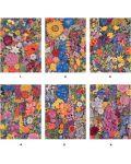 Puzzle-uri cubulete Pomegranate de 12 piese - Flori, Rosalinda Wise - 2t