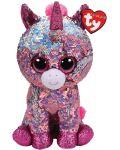 Jucarie de plus cu paiete TY Toys Flippables - Unicorn Sparkle, 15 cm - 1t