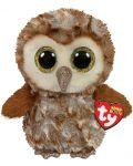 Jucarie de plus TY Toys Beanie Boos - Bufnita Percy, maro, 15 cm - 1t