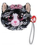 Portofel cu paiete TY Toys - Pisica Kiki, 10 cm - 1t