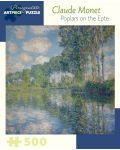 Puzzle Pomegranate de 500 piese - Plopii de langa Epte, Claude Monet - 1t