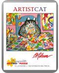 Puzzle Pomegranate de 100 piese - Pisica pictor, Bernard Kliban - 1t