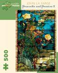 Puzzle Pomegranate de 500 piese - Pauni si bujori, John La Farge - 1t