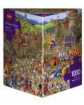 Puzzle Heye de 1000 piese - Luptele iepurasilor - 1t