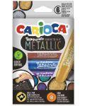 Tempera Carioca - Temperello metallic, 6 culori - 1t