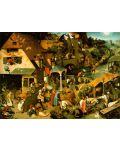 Puzzle D-Toys de 1000 piese – Proverbe olandeze, Pieter Bruegel  - 2t