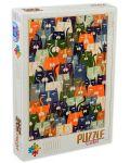 Puzzle D-Toys de 1000 piese - Andrea Kürti, Cats - 1t