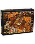 Puzzle  D-Toys de 1000 piese - Micul oras, Egon Schiele - 1t