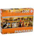 Puzzle panoramic Educa de 1000 piese -Pisici la dig - 1t
