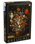 Puzzle  D-Toys de 1000 piese - Pieter Brueghel the Elder, Flower in a Wooden Vasel - 1t