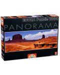 Puzzle panoramic Educa de 1000 piese - Valea monumentelor, SUA - 1t
