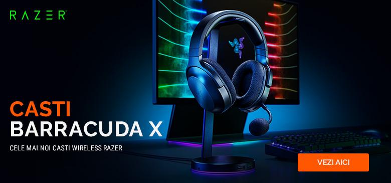 Casti gaming cu microfon Razer - Barracuda X